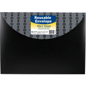 C-Line Products Poly XL Reusable Envelope w/ Hook and Loop Closure, Fashion Circle Series - Pkg Qty 8