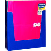"""C-Line Products Reusable Poly Envelopes, Side Load, 11""""W x 8-1/2""""H, Assorted, 24/Pack"""