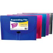 C-Line Products 7-Pocket Letter Size Expanding File, Assorted Color, 12 Clipboards/Set