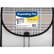 C-Line Products 13-Pocket Letter Size Expanding File, Plaid, 12 Fichiers/Set