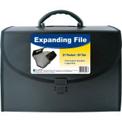 C-Line Products 21-Pocket Legal Size Expanding File with Handle, Black, 1/EA