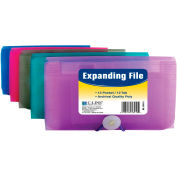 C-Line Products 13-Pocket Coupon Size Expanding File, Assorted Colors, 12 Files/Set