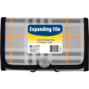 C-Line Products 13-Pocket Coupon Size Expanding File, Plaid, 12 Fichiers/Set