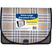 C-Line Products Extra Large Document Case, Plaid, 12 Document Cases/Set