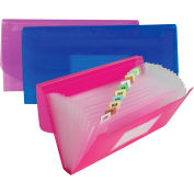 C-Line Products 13-Pocket Junior Size Expanding File, Assorted Colors, 12 Files/Set