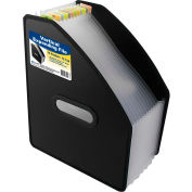 C-Line Products 13-Pocket Vertical Expanding File, Letter Size, Black