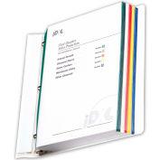 C-Line produits protège-feuilles de bord coloré, divers coloris, 11 x 8 1/2, 50/BX