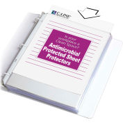 C-Line Products Heavyweight Poly Sheet Protector, Antimicrobial Protected, Clear, 11 x 8 1/2, 100/BX - Pkg Qty 2