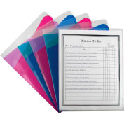 C-Line Products Multi-Section Project Folders, Clear Folders with Colored Dividers, 60/Set