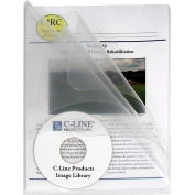 C-Line Products Multi-Section Project Folders, Clear Folders with Clear Dividers, 25/BX
