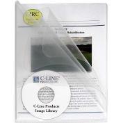 Dossiers de projets de plusieurs sections de produits C-Line, désactivez les dossiers avec les diviseurs clairs, 25/BX