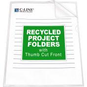 C-Line produits recyclés des dossiers de projets, Clear - réduit l'éblouissement, 11 x 8 1/2, 25/BX, qté par paquet : 3