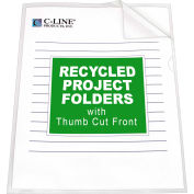 C-Line Products Recycled Project Folders, Clear - Reduced glare, 11 x 8 1/2, 25/BX