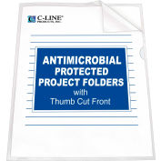 C-Line Products Project Folder with Antimicrobial Protection, Reduced Glare, 11 X 8 1/2, 25/BX - Pkg Qty 2