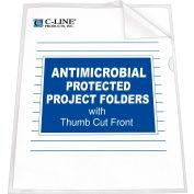 Dossier de projet C-Line produits avec Protection antimicrobienne, réduit l'éblouissement, 11 X 8 1/2, 25/BX, qté par paquet : 2