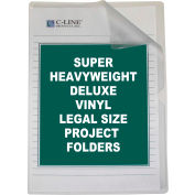 C-Line Products Deluxe Non-Glare Vinyl Project Folders, Legal Size, 14 x 8 1/2, 50/BX