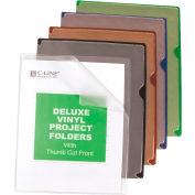 Dossiers de projets produits C-Line Deluxe Vinyl couleur dos, 11 x 8 1/2, 35/BX
