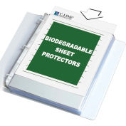 C-Line Products Biodegradable Sheet Protector, Clear, Polypropylene, 11 x 8 1/2, 100/BX - Pkg Qty 2