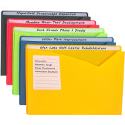 C-Line Products Write-on Poly File Jackets, Assorted, 11 X 8 1/2, 10/PK