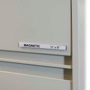 C-Line Products HOL-DEX Magnetic Shelf/Bin Label Holders, 1/2  Inch Magnetic Label Holder, 10/BX
