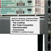 "C-Line Products Peel & Stick Shelf/Bin Label Holders, 3"" x 5"", 50/Pack"