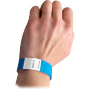 C-Line Products DuPont Tyvek Security Wristbands, Blue, 100/PK - Pkg Qty 2