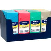 C-Line Products Slider Pencil Case, Assorted Tropic Tones Colors, 1/Each - Pkg Qty 24