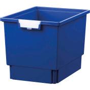 """Certwood Standard largeur profondeur Quad stockage fourre-tout plateau CE1954PB - 16-3/4"""" L x 12-5/16"""" W x 12 «H bleu, qté par paquet : 5"""