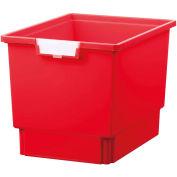 """Certwood Standard largeur profondeur Quad stockage fourre-tout plateau CE1954PR - 16-3/4"""" L x 12-5/16"""" W x 12 «H rouge, qté par paquet : 5"""