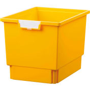 """Certwood Standard largeur profondeur Quad stockage fourre-tout plateau CE1954PY - 16-3/4"""" L x 12-5/16"""" W x 12 H jaune «, qté par paquet : 5"""