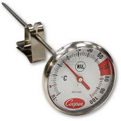 "Cooper-Atkins® Espresso Thermometer, 2237-04-8, With Clip, 1¾"" Dial, 7"" Stem, Nsf - Min Qty 10"