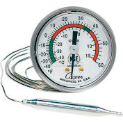 "Cooper-Atkins® Panel Thermometer, 6812-02-3, 2"" Dial, Back Flange, Back Connect - Min Qty 2"