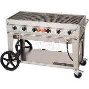 "Crown Verity Rental Mobile Grill 48"" LP - Single Inlet - RCB-48-SI"