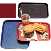 "Cambro 1014FF416 - Tray Fast Food 10"" x 14"",  Cranberry - Pkg Qty 24"