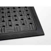 "Cushion Station™ Anti Fatigue Mat w/Holes 7/16"" Thick 3' x 20' Black"
