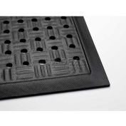 "Cushion Station™ Anti Fatigue Mat w/Holes 7/16"" Thick 4' x 16' Black"