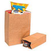 "#4 Grocery Bag 5""W x 3-1/4""D x 9-3/4""H 500 Pack"