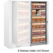 Rotary File Cabinet Adder Unit, Legal, 7 Shelves, Light Gray
