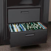 Rotary File Cabinet Components, Legal File/ Storage Drawer, Locking, Black
