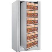 Rotary File Cabinet Starter Unit, Legal, 6 Shelves, Light Gray