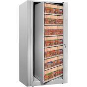 Rotary File Cabinet Starter Unit w/ 2 End Panels , Legal, 7 Shelves, Light Gray