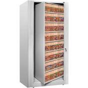 Rotary File Cabinet Starter Unit, Legal, 7 Shelves, Light Gray
