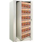 Rotary File Cabinet Starter Unit, Letter, 5 Shelves, Bone White