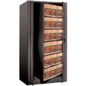 Rotary File Cabinet Starter Unit, Letter, 5 Shelves, Black