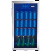 Danby® DBC117A1BSSDB-6 - Beverage Center, 3,1 Cubic Ft, 117 Can Capacity, Temp Glass Door, Lock