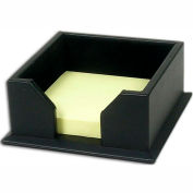 "DACASSO® Classic Black Leather 3"" x 3"" Note Holder"