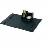 DACASSO® Black Leather 2-Piece Desktop Organizer Desk Set