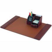 DACASSO® Mocha Leather 2-Piece Desk Set