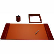 DACASSO® Mocha Leather 3-Piece Desk Set