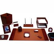DACASSO® Mocha Leather 16-Piece Desk Set